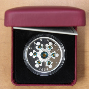 2009 - Canada - $20 - Crystal Snowflake - Blue - Proof - retail $90