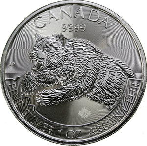 1 oz - 2019 Silver Grizzly