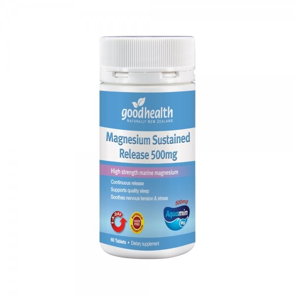 Good Health Magnesium Sustained Release 500mg 60 tabs