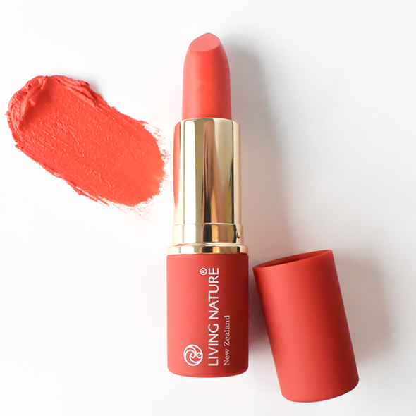 Living Nature Natural Lipstick Electric Coral #15 3.9g