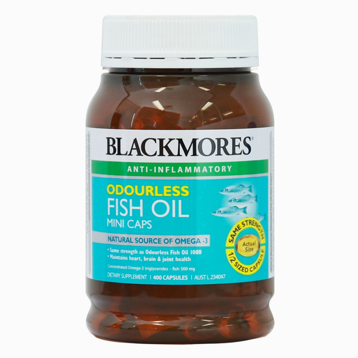 Blackmores Odourless Fish Oil 1000mg Mini 400 Capsules