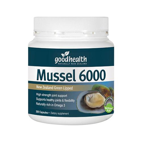 Good Health Mussel 6000MG- New Zealand Green Lipped, 300caps