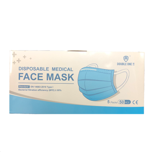 Disposable Medical Face Mask 5 packs(50pcs)