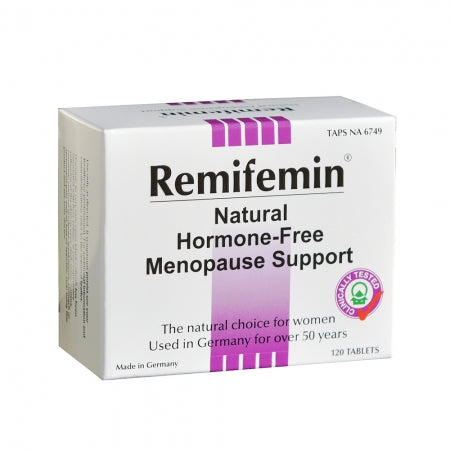 Remifemin Natural Hormone Free Menopause Support 120 Tablets