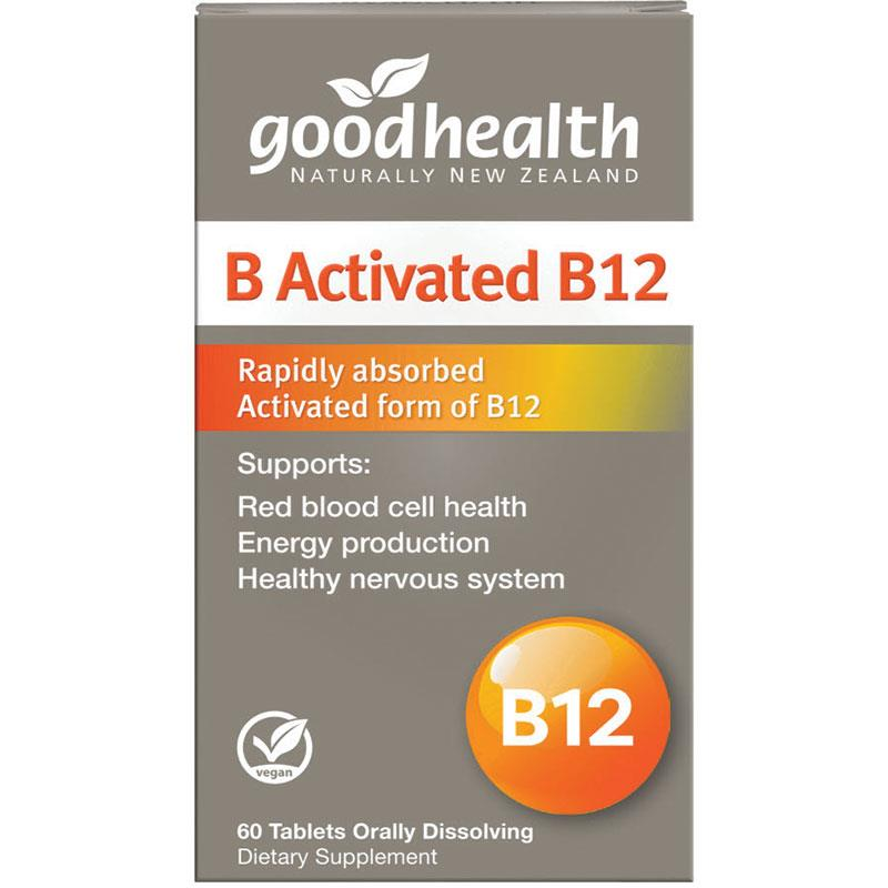 Good Health B Activated B12 60 Tabs