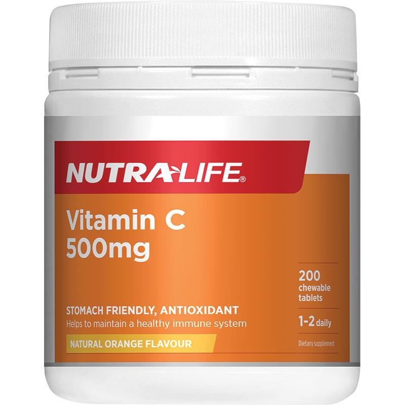 Nutralife Vitamin C 500mg 200 Chewables