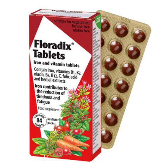 Floradix Tablets Iron and Vitamin Tablets 84