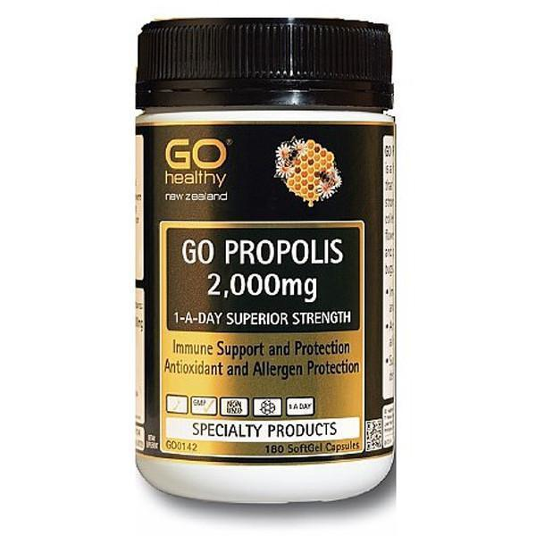 GO Healthy Go Propolis 2000mg 1-A-Day 180 softgels