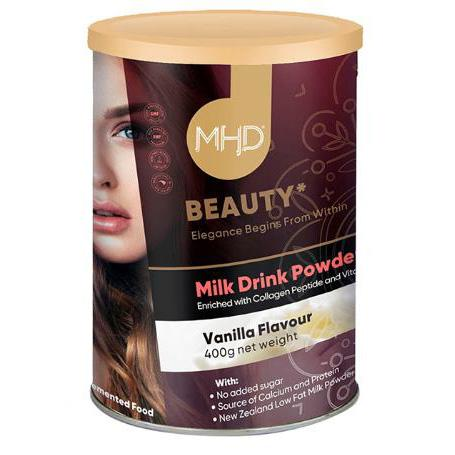 MHD Beauty Pure Collagen Milk Drink Powder Vanilla Flavour 400g
