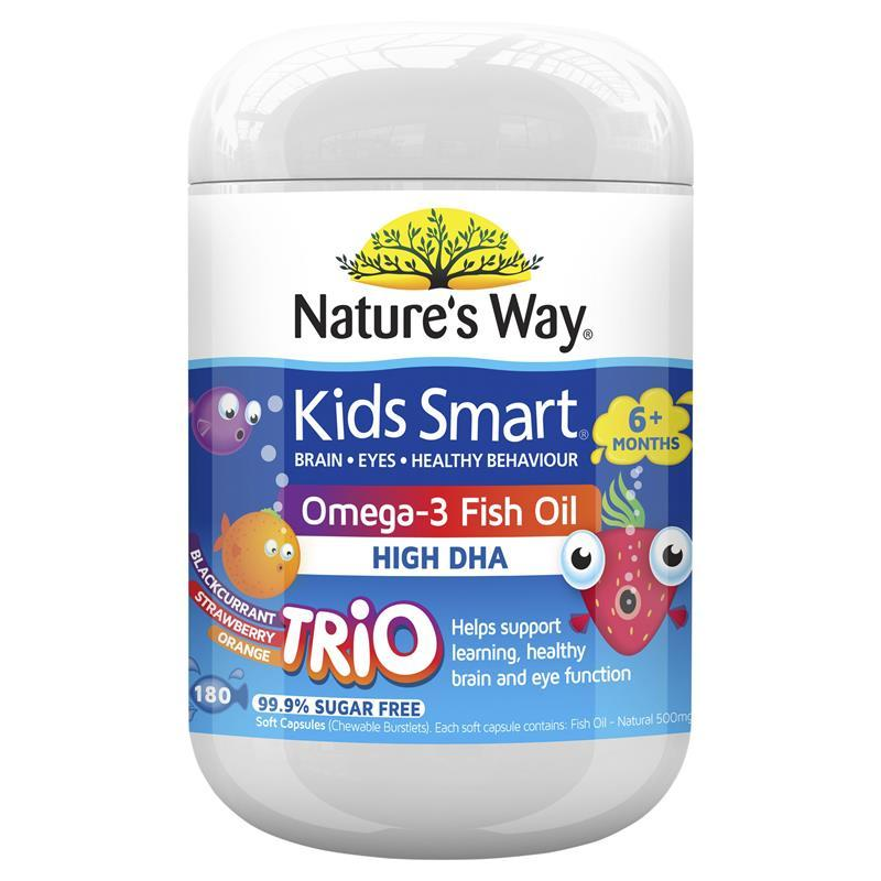 Nature's Way Kids Smart Oega-3 Fish Oil 180 Capsules
