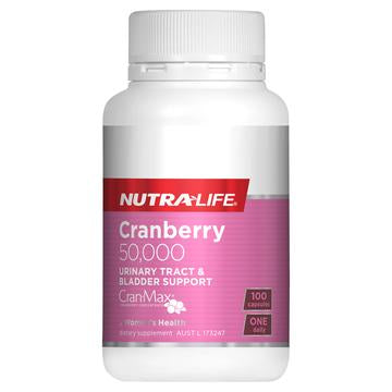 Nutra-Life Cranberry 50000 Urinary Tract & Bladder Support - 100 Capsules