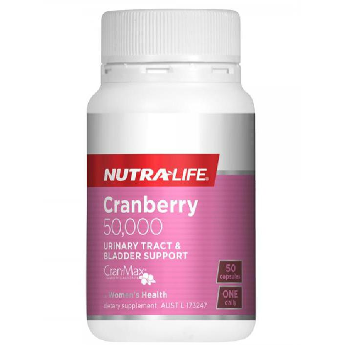 Nutra-Life Cranberry 50000 Urinary Tract & Bladder Support - 50 Capsules