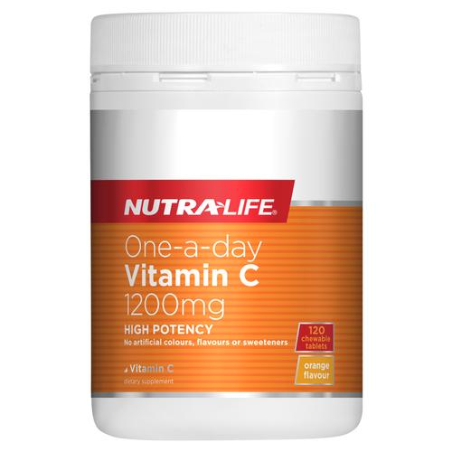 Nutralife One-a-Day Vitamin C 1200mg 120 Chewable Tablets