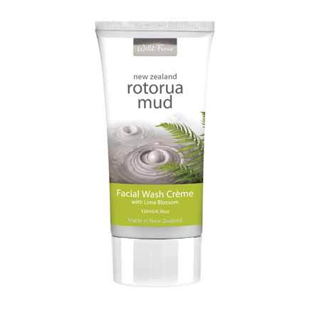 Parrs Wild Ferns Rotorua Mud Facial Wash Creme with Lime Blossom 130ml