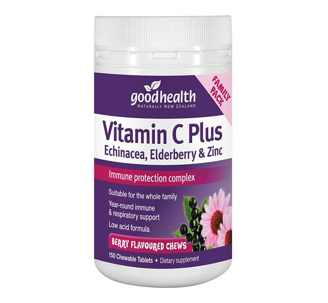 Good Health Vitamin C Plus Echinacea, Elderberry & Zinc Chews 150 Chews