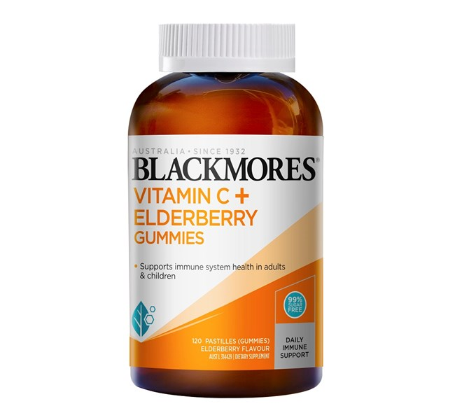 Blackmores Vitamin C & Elderberry 120 Gummies Expiry Date 7/21