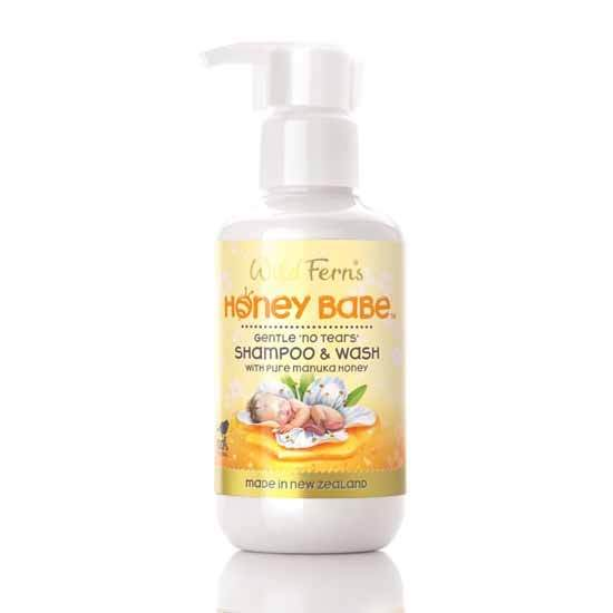 Parrs Wild Ferns Honey Babe Shampoo & Wash Gentle 'No Tears' 140ml