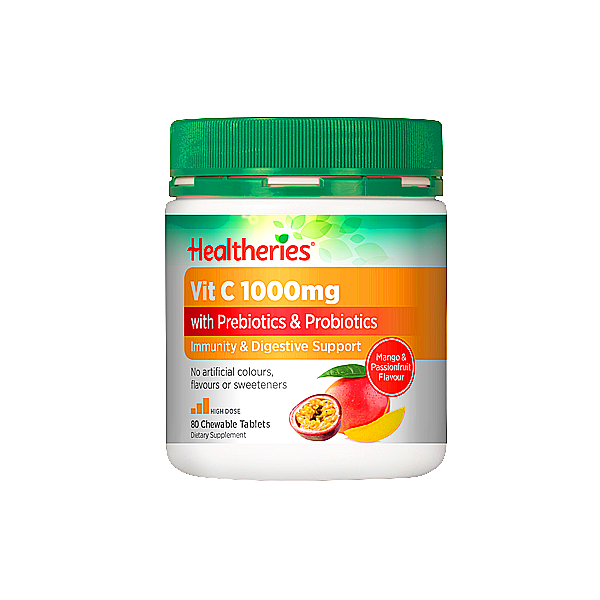 Healtheries Vit C 1000mg with Prebiotics & Probiotics