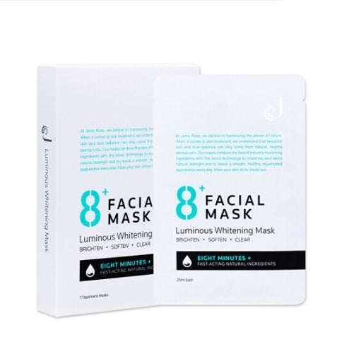 Jema Rose 8+ Luminous Whitening Facial Mask 25ml X 7