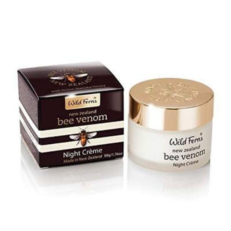Parrs Wild Ferns Bee Venom Night Creme with Active Manuka Honey 47g