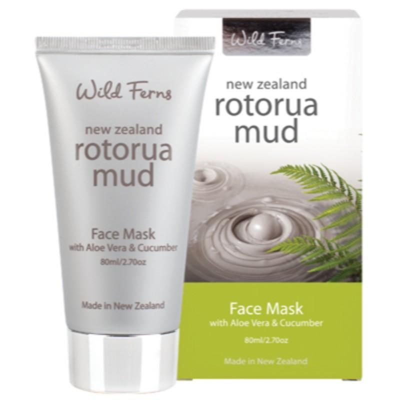 Parrs Wild Ferns Rotorua Mud Face Mask with Aloe Vera & Cucumber 80mL
