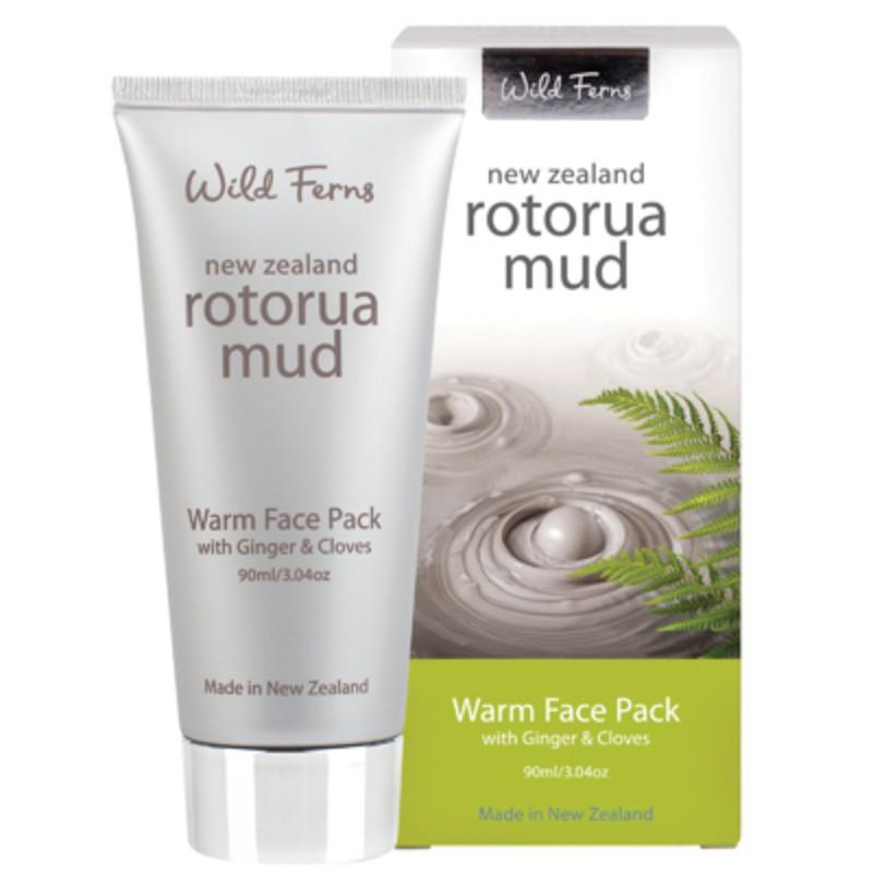 Parrs Wild Ferns Rotorua Mud Warm Face Pack with Ginger & Cloves 90mL
