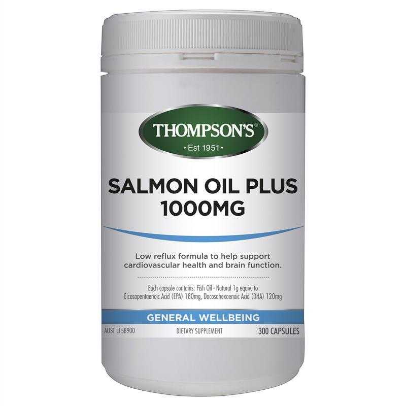 Thompson's Salmon Oil 1000mg 300 Capsules