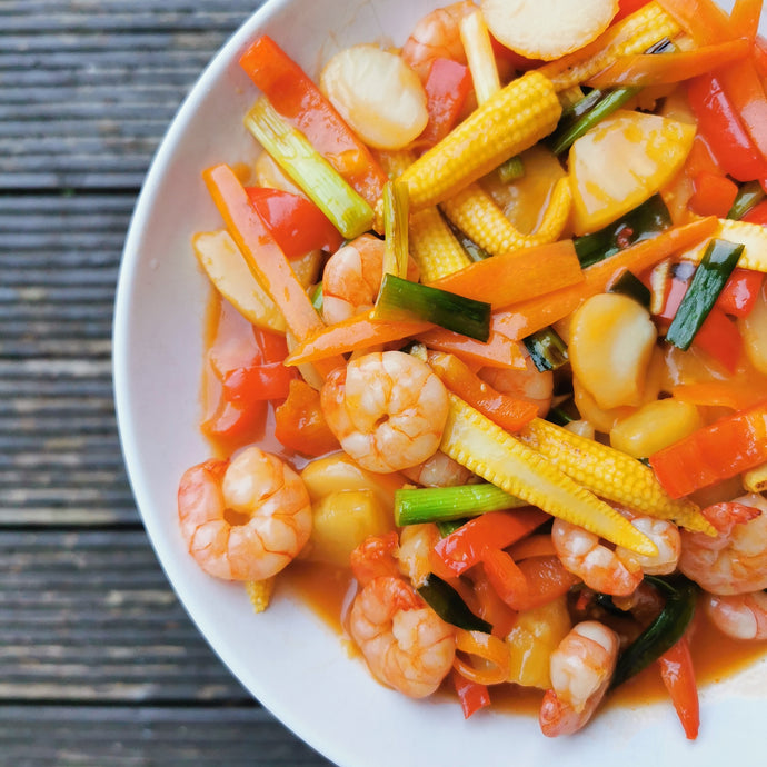 Sweet & Sour King Prawns