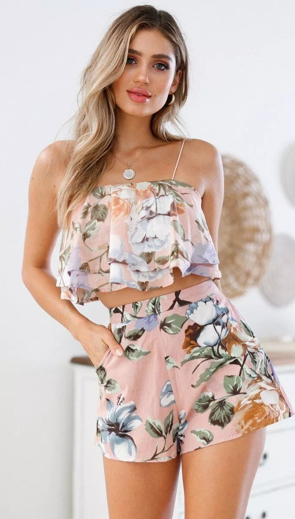 Peach Exaggerate Playsuit
