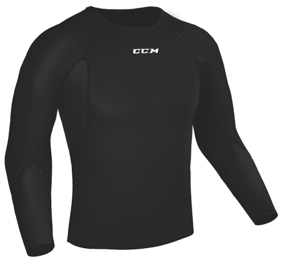 CCM Long-Sleeve Compression Grippy Boys Top