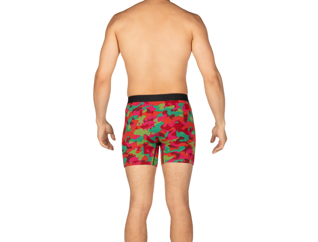 SAXX Ultra Boxer Fly Red Cookie Cutter Camo