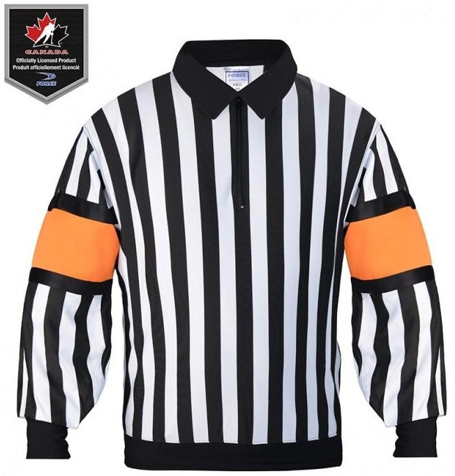 Force Men's Pro Sewn-In Armbands Referee Jersey