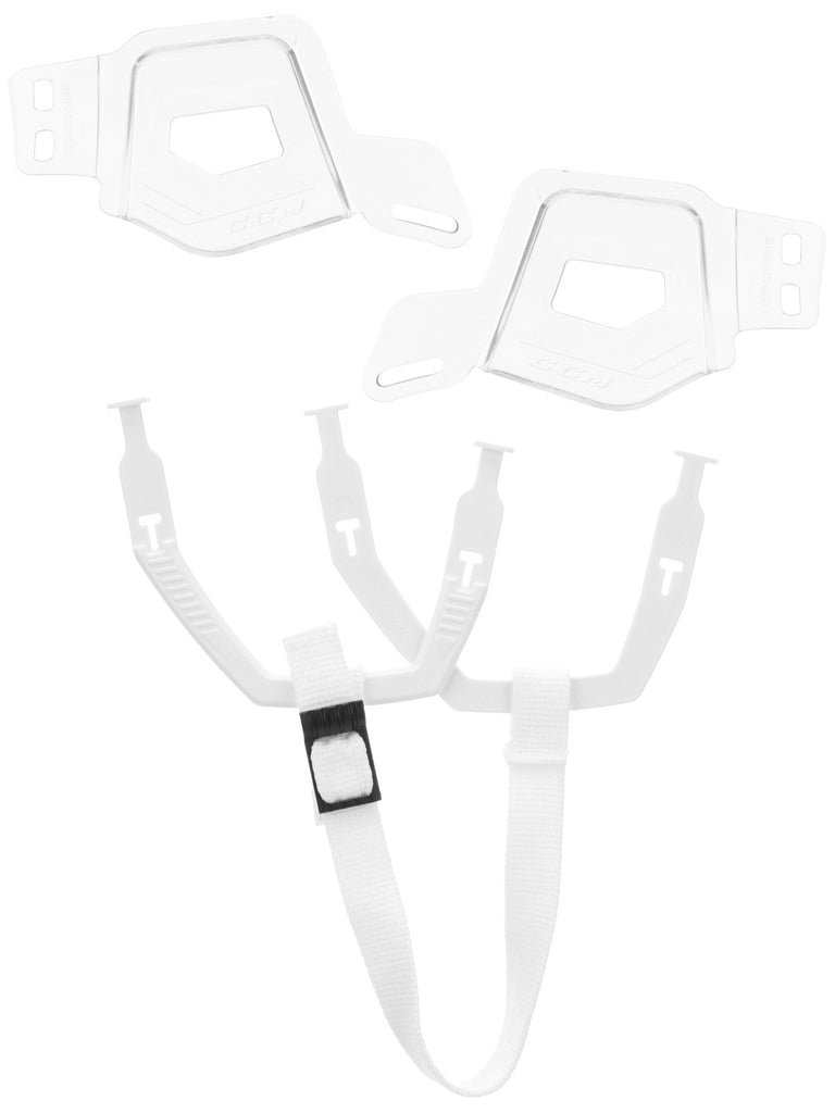 CCM Tacks Ear Cover, Ear Loop & Strap White