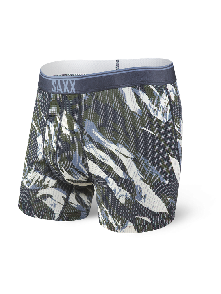 SAXX Quest Boxer Brief Fly Navy Mountain Camo