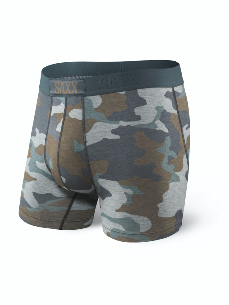 SAXX Vibe Boxer Modern Fit Grey Supersize Camo