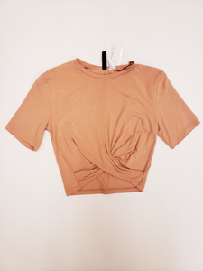 Divided Short Sleeve Top Size Small