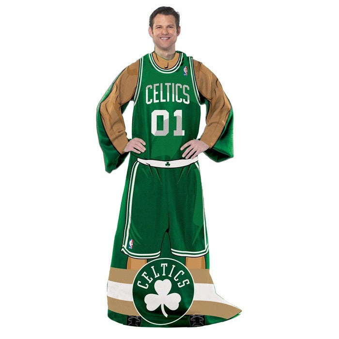 Boston Celtics NBA Full Body Uniform Comfy Throw - Sports Fans Plus