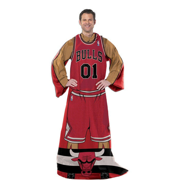 Chicago Bulls NBA Full Body Uniform Comfy Throw - Sports Fans Plus
