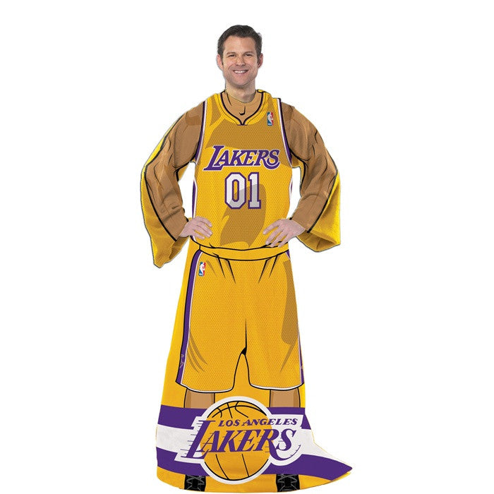 Los Angeles Lakers NBA Full Body Uniform Comfy Throw - Sports Fans Plus