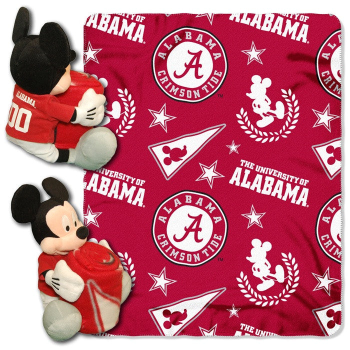 Alabama Crimson Tide Mickey Mouse Hugger with Throw - SportsFansPlus.com