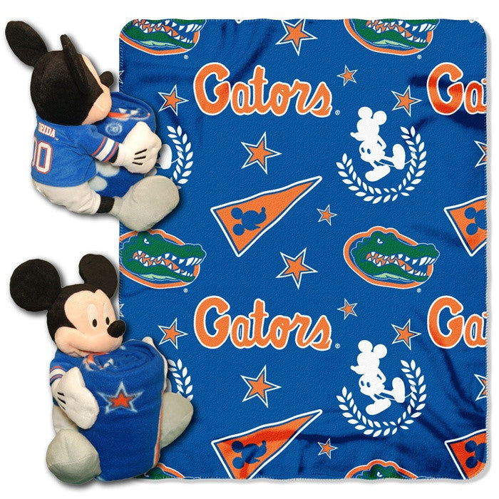 Florida Gators Mickey Mouse Hugger with Throw - Sports Fans Plus