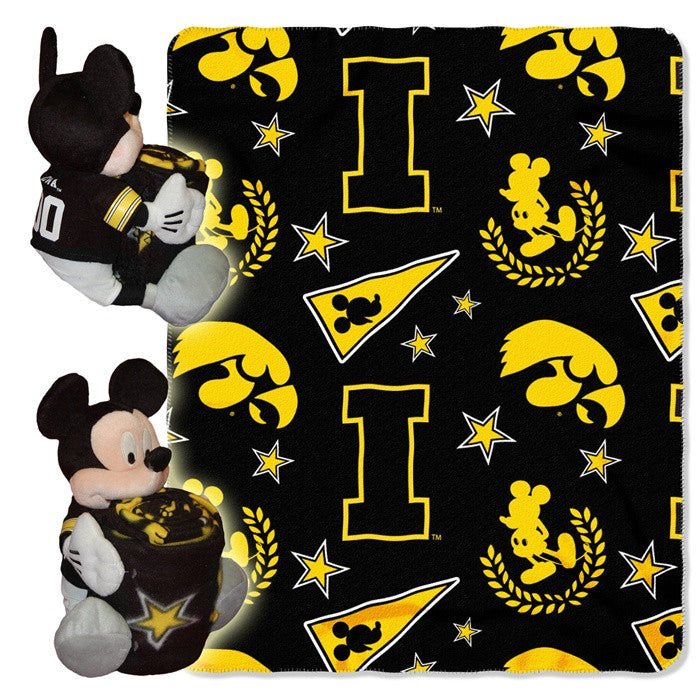 Iowa Hawkeyes Mickey Mouse Hugger with Throw - Sports Fans Plus