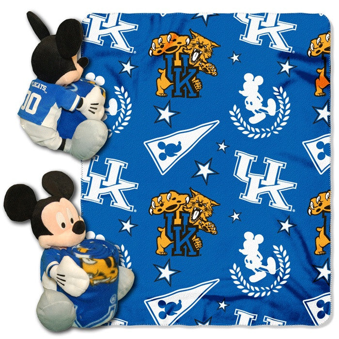Kentucky Wildcats Mickey Mouse Hugger with Throw - Sports Fans Plus