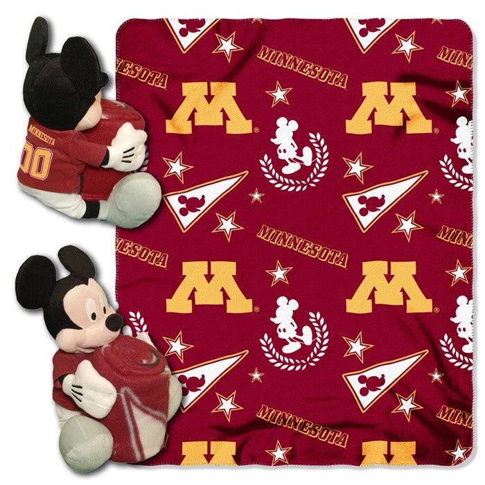 Minnesota Golden Gophers Mickey Mouse Hugger with Throw - Sports Fans Plus