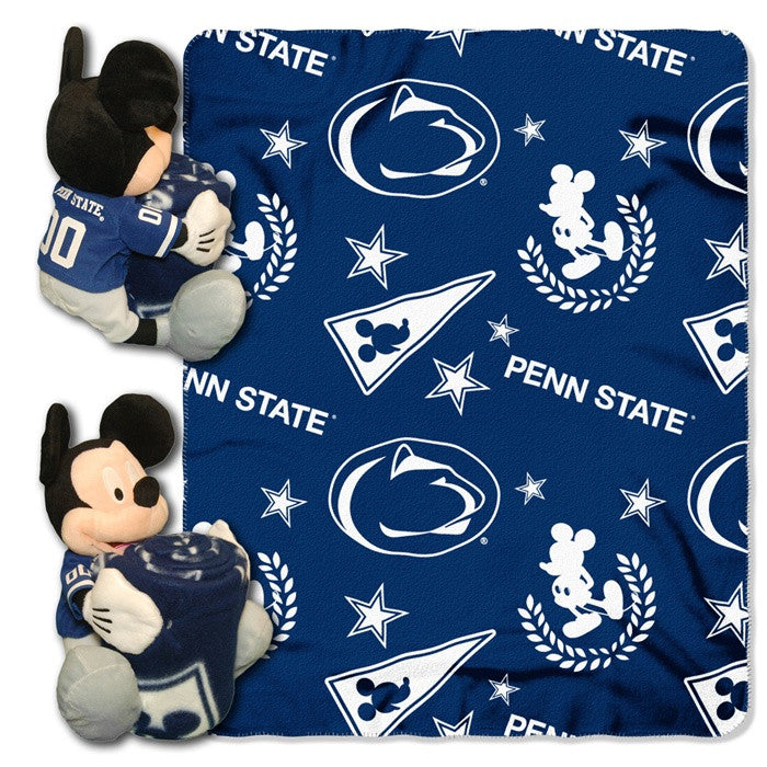 Penn State Nittany Lions Mickey Mouse Hugger with Throw - Sports Fans Plus