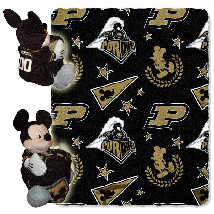 Purdue Boilermakers Mickey Mouse Hugger with Throw - Sports Fans Plus