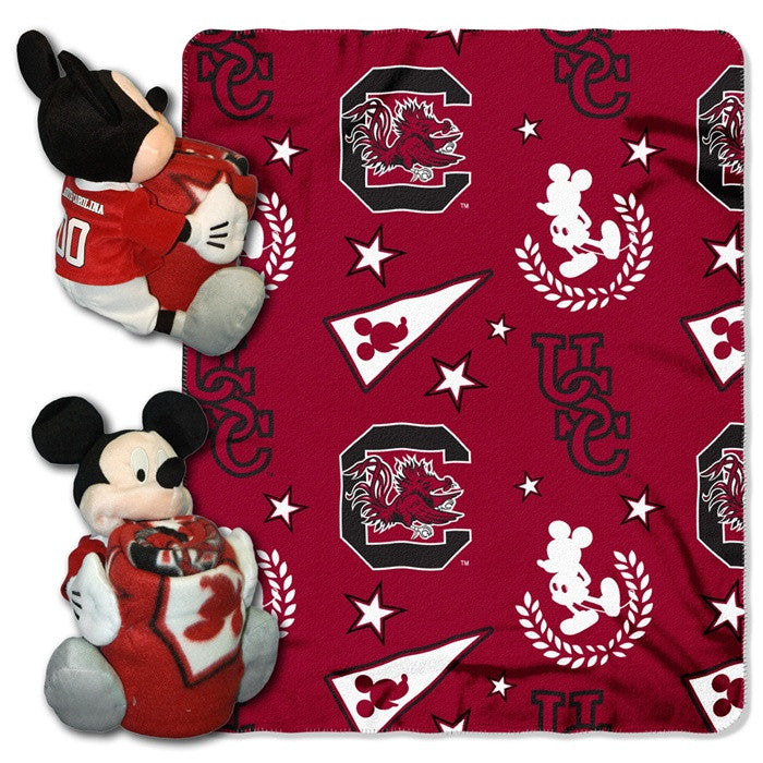 South Carolina Gamecocks Mickey Mouse Hugger with Throw - Sports Fans Plus