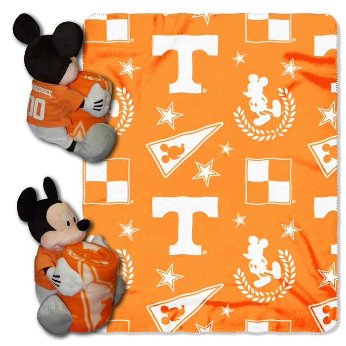 Tennessee Volunteers Mickey Mouse Hugger with Throw - Sports Fans Plus