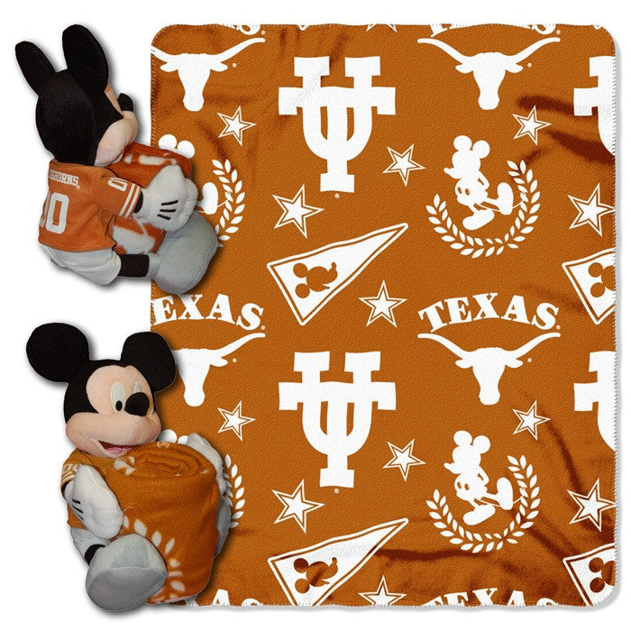 Texas Longhorns Mickey Mouse Hugger with Throw - Sports Fans Plus