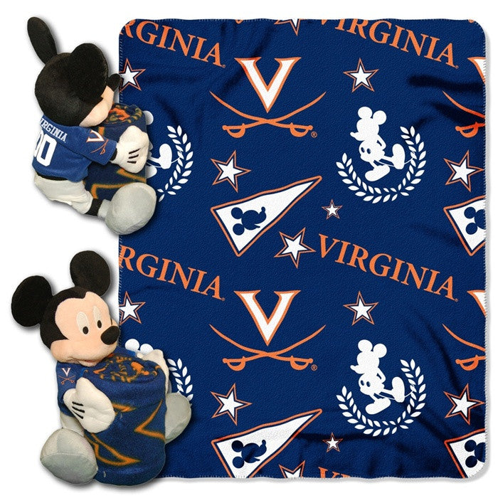 Virginia Cavaliers Mickey Mouse Hugger with Throw - Sports Fans Plus